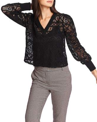 1 STATE 1.STATE Lace V-Neck Top