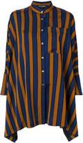Ter Et Bantine oversized striped collarless shirt
