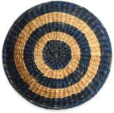 Stylecraft Home Collection Woven Circle Wall Art made from Water Hyacinth in Natural and Blue
