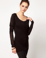 Improvd Long Sleeved Sheer T-Shirt