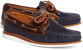 Brooks Brothers Rancourt & Co. Waxed Canvas Boat Shoes