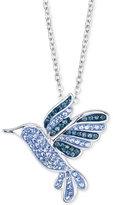 Unwritten Silver-Tone Crystal Hummingbird Necklace
