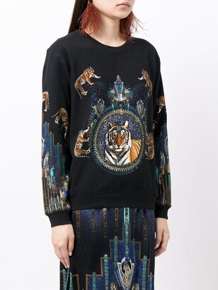 Camilla Dripping in Deco mix-print sweatshirt