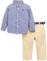 Ralph Lauren Boys Gingham Shirt & Chino Outfit