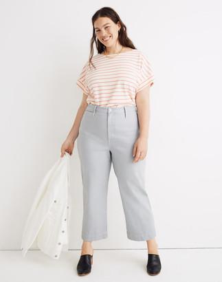 Madewell Curvy Slim Emmett Wide-Leg Crop Pants