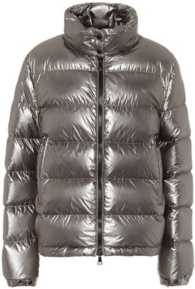 Moncler Gris metallic down jacket