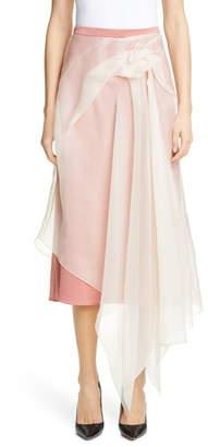 Sies Marjan Nadine Asymmetrical Overlay Crepe Skirt