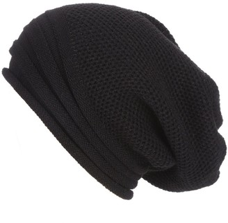Women Beanie Skull Hat Winter Warm Pure Colour Caps Thicken Knitted Chunky Slouchy Ski Hats TOPEREUR