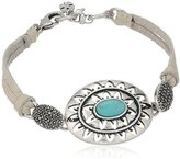 Lucky Brand Turquoise Statement Link Bracelet
