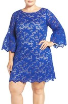 Eliza J Lace Shift Dress (Plus Size)