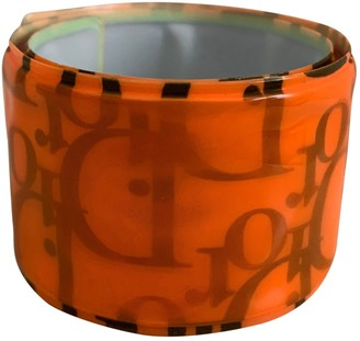 Christian Dior Oblique Orange Plastic Bracelets
