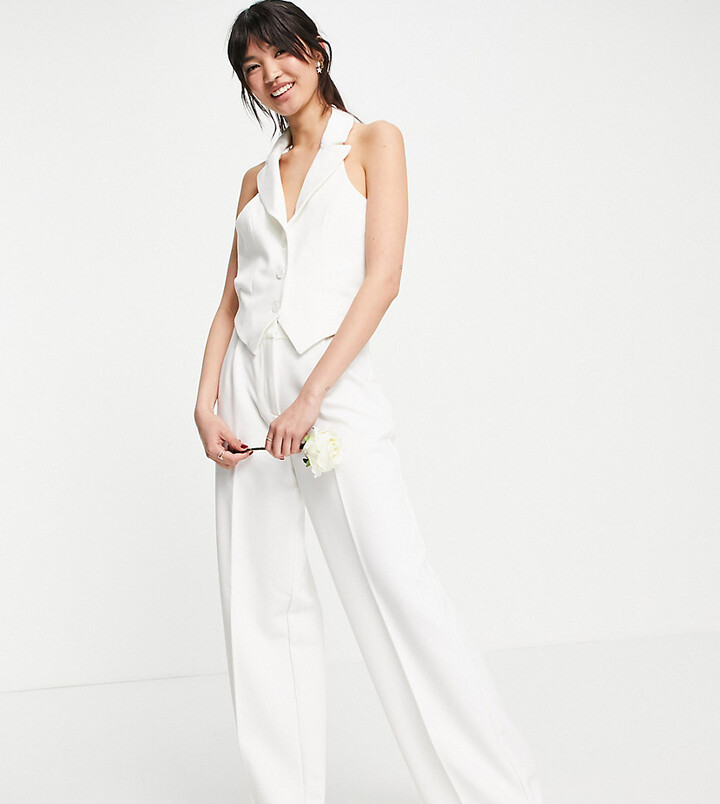Thumbnail for your product : Y.A.S exclusive Bridal tailored waistcoat co-ord in white