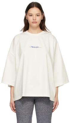 Ader Error White Oversized Logo T-Shirt