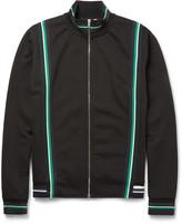 Mcq Alexander Mcqueen - Contrast-trimmed Cotton-blend Zip-up Sweater