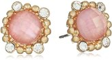 """lonna & lilly Lilac Breeze"""" Gold-Tone/ Multi-Button Earrings"""
