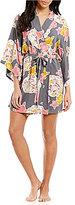 Josie Floral Challis Kimono Robe