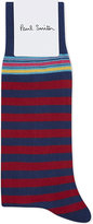 Paul Smith Blue Striped Iconic Socks