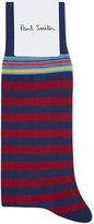 Paul Smith Grey Striped Iconic Socks