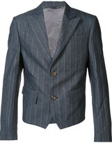 Vivienne Westwood Man - cropped striped jacket - men - Cotton/Polyester/Viscose - 50