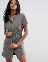 Vero Moda Short Sleeve Belted Shirt Dress