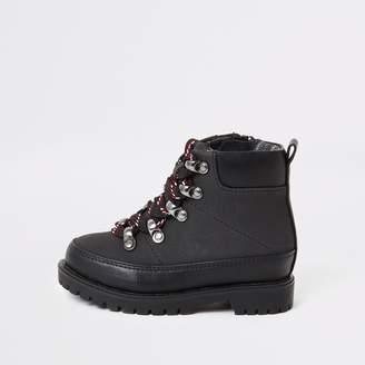 River Island Mini boys Black hiking boots