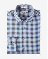 Express slim fit plaid pattern dress shirt