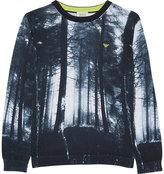 Armani Junior Forest-print Cotton Jumper 4-16 Years