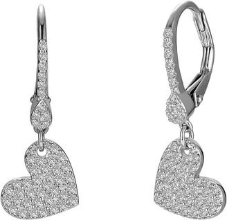 Lafonn Pave Heart Drop Earrings
