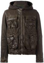 Neil Barrett hooded leather jacket