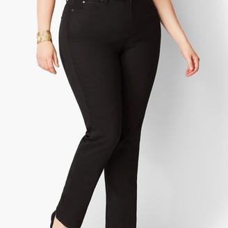 Talbots Plus Size High-Waist Straight-Leg Jeans - Curvy Fit - Black