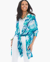Chico's Breezy Printed Convertible Cardigan
