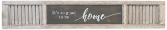 "American Mercantile Wood Sign ""Home"", White/Black, 12"""