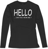QDYJM Women's Adele 25 Hello Can You Hear Me Long Sleeve T Shirt
