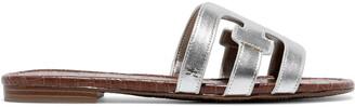 Sam Edelman Bay Metallic Leather Slides