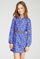 Forever 21 Ikat Print Mandarin Collar Dress (Kids)