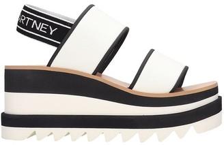 Stella McCartney Sneak-elyse Sandals In White Tech/synthetic