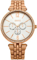 Oasis Rose Gold Dial Watch
