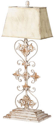 A&B Home White and Gold Iron Table Lamp