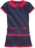 Nautica Dress, Little Girls Pleated Sweater Dress