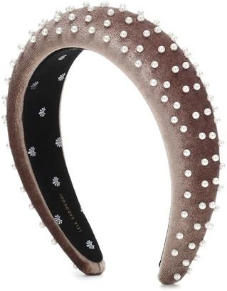 Lele Sadoughi Exclusive to Mytheresa a Embellished velvet headband