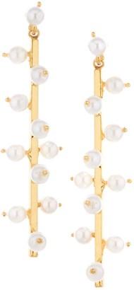 Oscar de la Renta Freshwater 6MM Pearl Sputnik Stick Drop Earrings