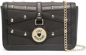 Love Moschino Stud Embellished Chain Strap Crossbody Bag