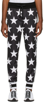 Dolce & Gabbana Black Millennial Star Lounge Pants