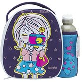 Smash Wear Paparazzi Insulated Lunch Bag and 500ml Bottle -Puprle