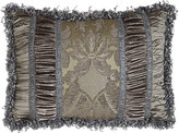 """Dian Austin Couture Home Penthouse Suite Pieced Pillow with Damask Center, 14"""" x 20"""""""