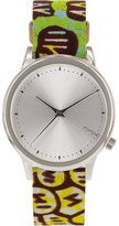 Komono KOM-W2850 Women's Estelle Vlisco Stainless Steel Case Multi Leather Silver Watch