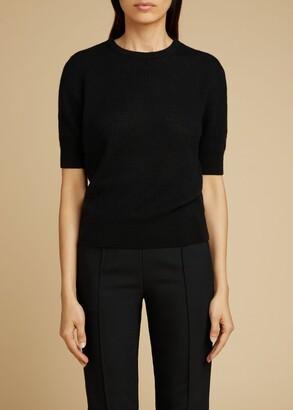 KHAITE The Dianna Sweater in Black