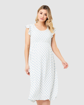Ripe Maternity Dotty Shirred Dress