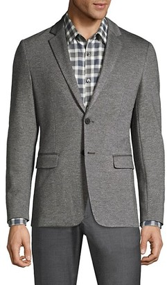 Theory Slim-Fit Marled Ponte Single-Breasted Jacket