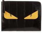Fendi Bag Bugs snakeskin and crocodile pouch